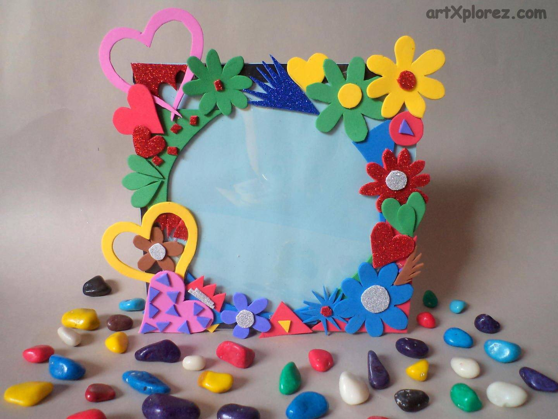 artesanato em eva porta retrato colorido