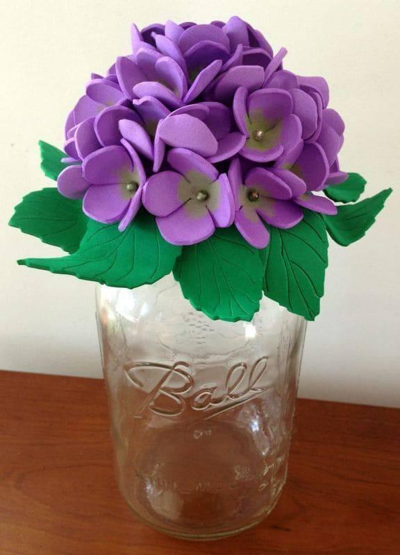 artesanato em eva pote com tampa de violeta