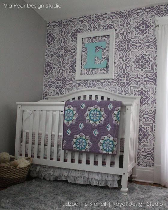 azulejo portugues adesivo em quarto de bebe