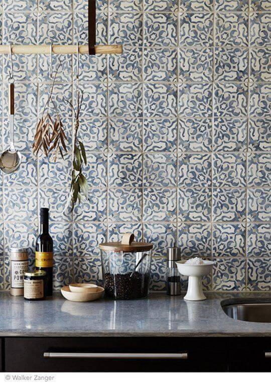 azulejo portugues bancada de cozinha