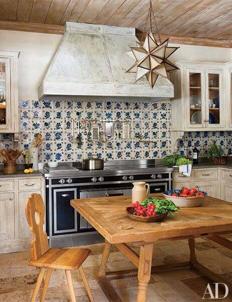 azulejo portugues flores cozinha