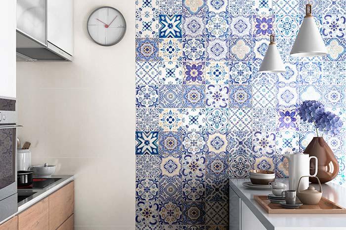 Azulejo português na cozinha moderna