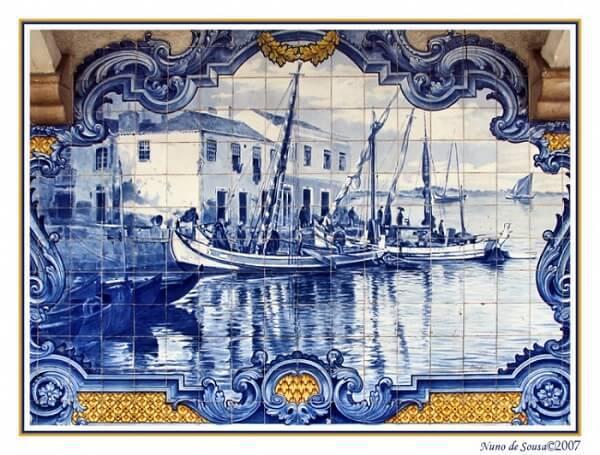 azulejo portugues painel navio