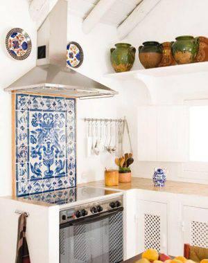 azulejo portugues painel vintage cozinha