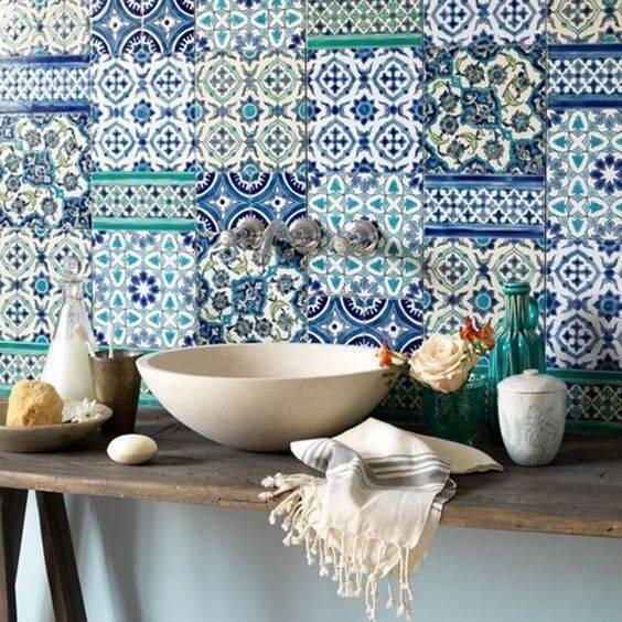 azulejo portugues pia com bancada rustica