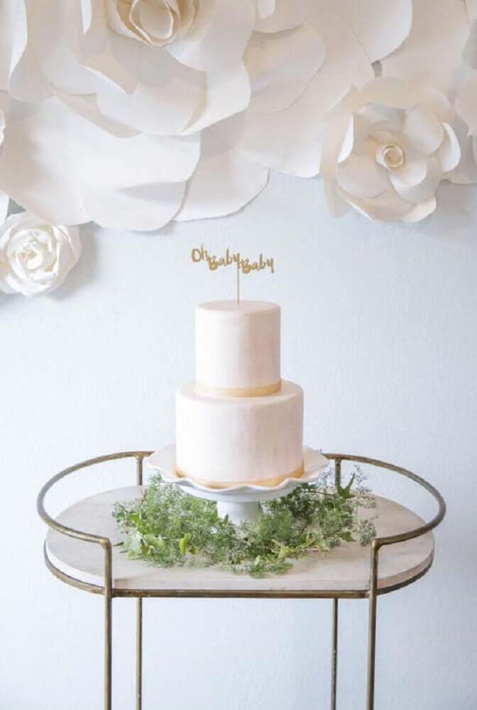 chá de bebê com decoração minimalista Foto La Tavola Linen