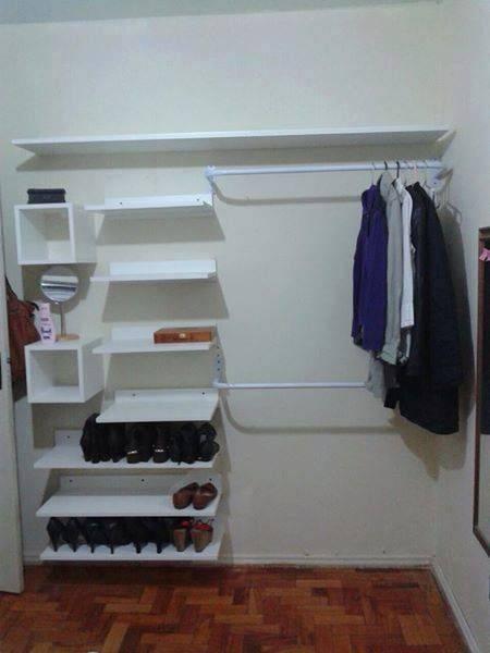 45 ideias de closet pequeno e barato para voc aplicar na for Armarios pequenos baratos