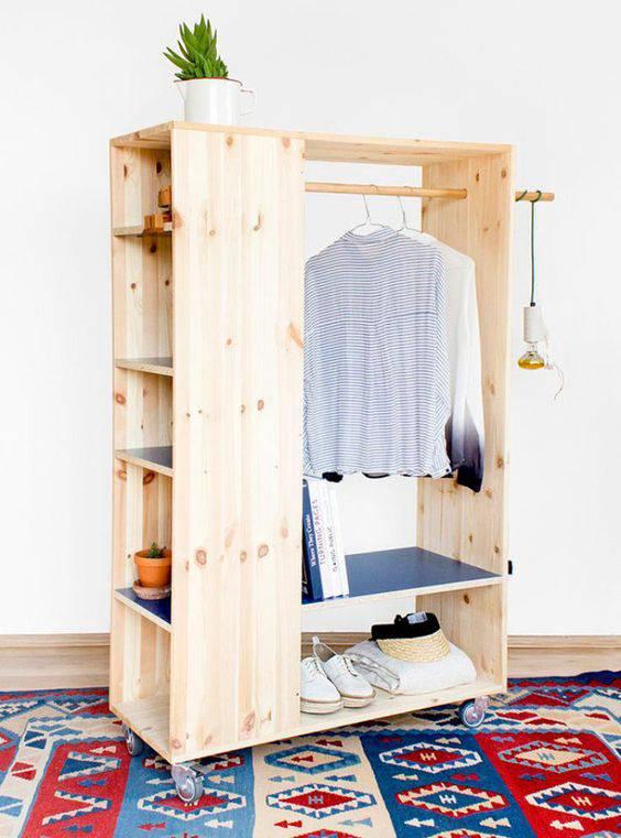closet pequeno e barato de mdf cru