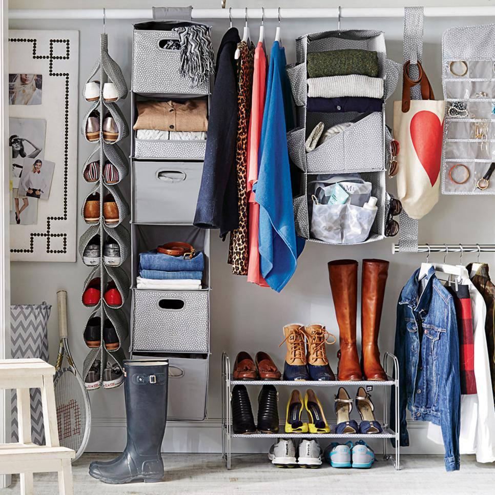 closet pequeno e barato organizadores