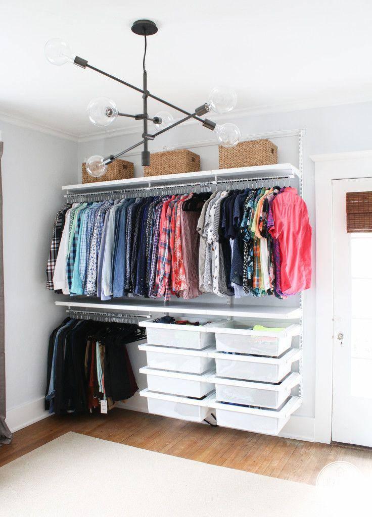 closet pequeno e barato prateleira organizada