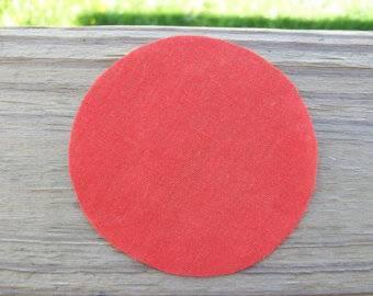 como fazer fuxico circulo de tecido