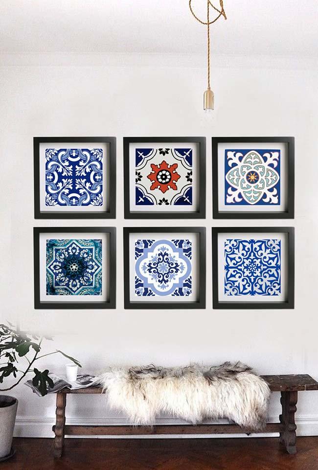 Decoração com azulejo português