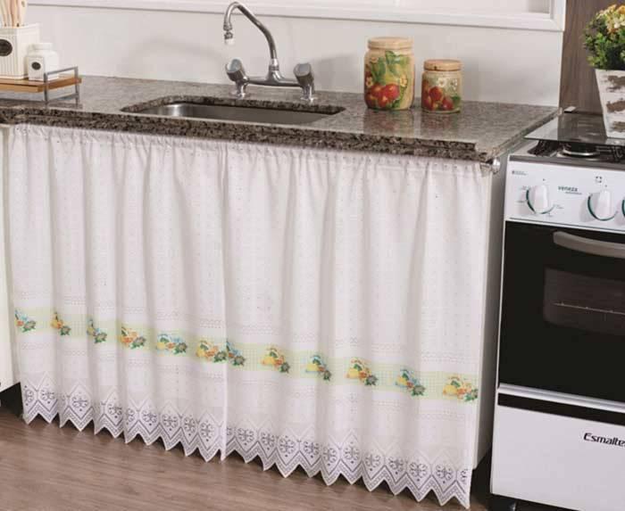 decoração dos anos 90 - cortina de pia
