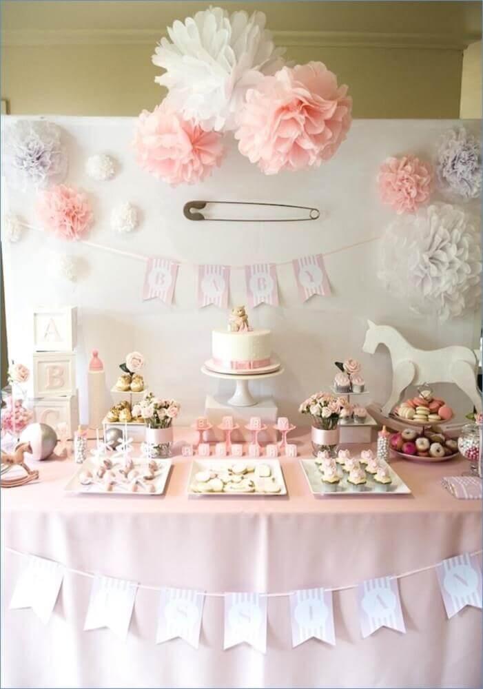 decoração simples para chá de bebê menina Foto The Strugglers
