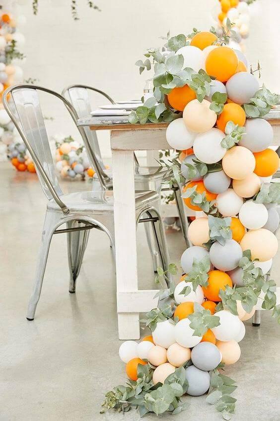 decoracao de festa mesa com bexigas