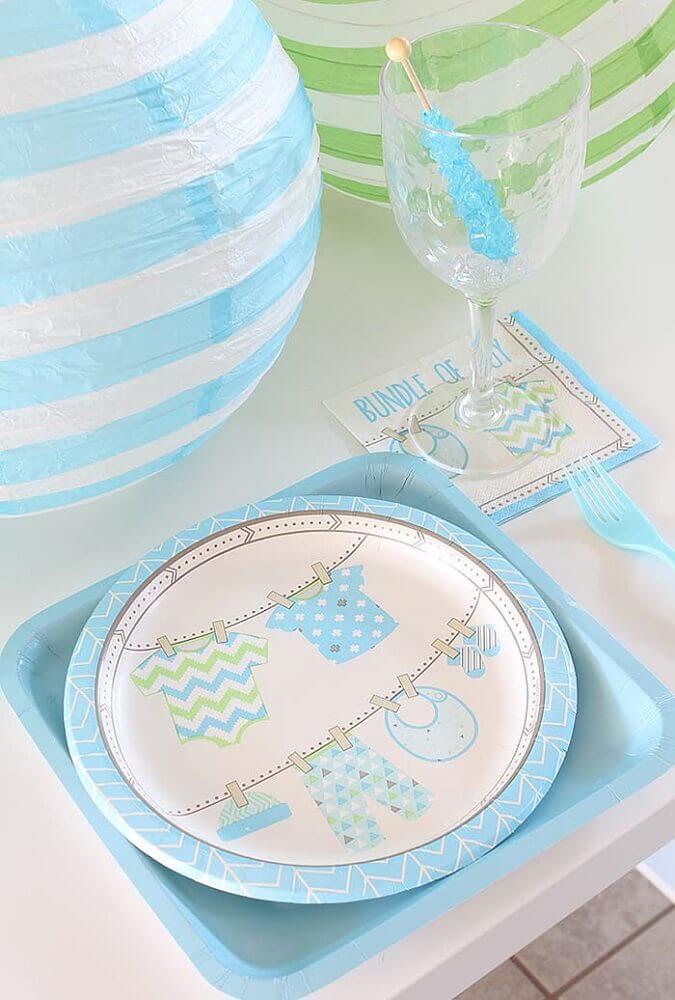 detalhes decorativos para chá de bebê azul Foto Pinterest