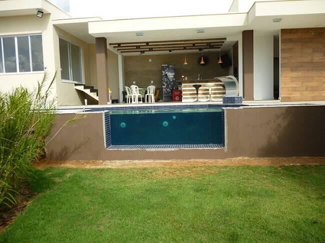 edicula tudo em um com piscina vazada