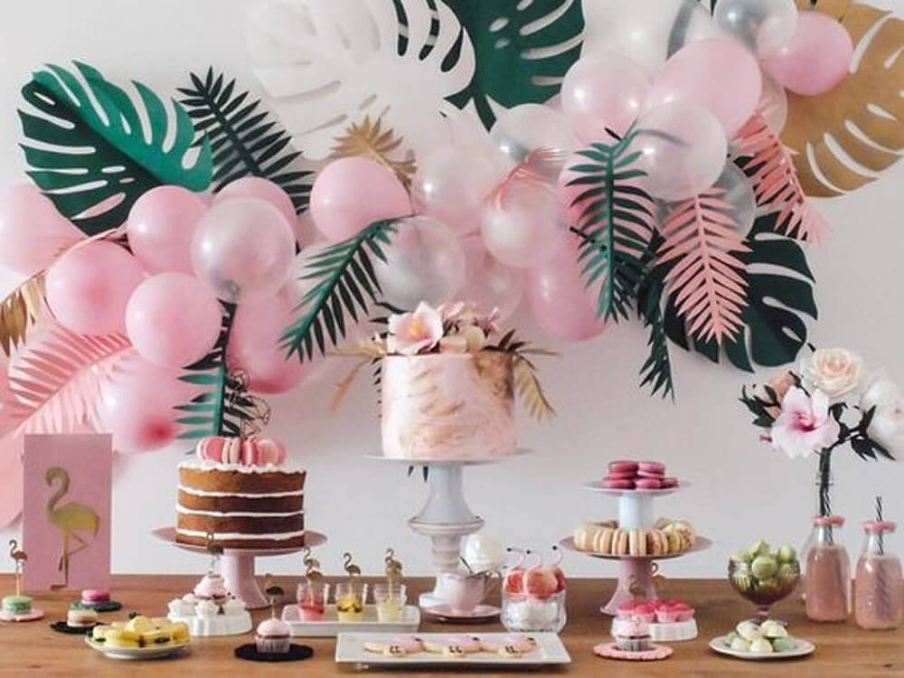 tropical style for baby tea decoration Photo DHgate