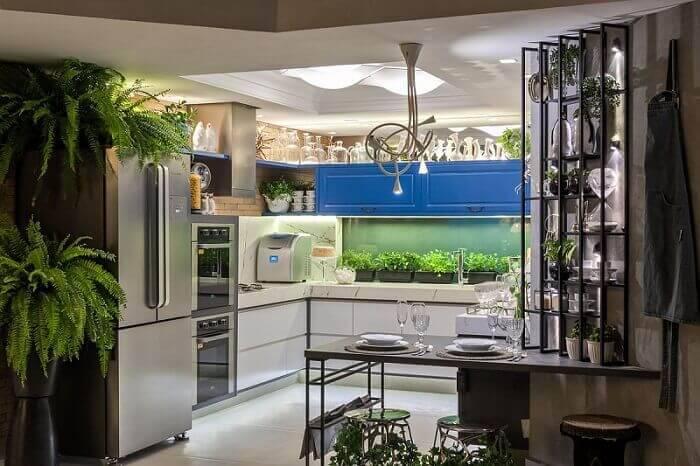 lampadas de led cozinha moderna com iluminacao morar mais por menos goiania 151879