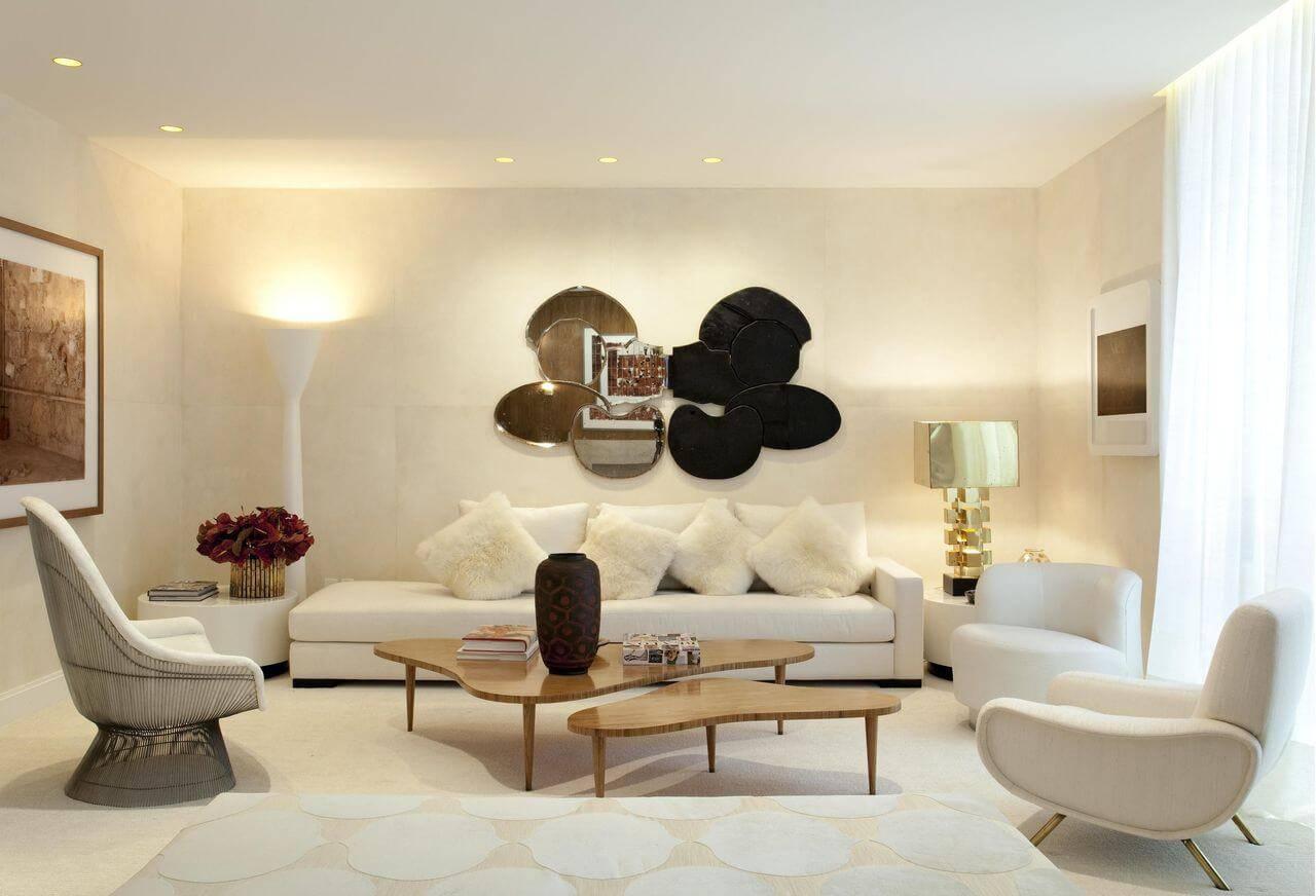 lampadas de led sala de estar com pelucias beto galvez e nórea de vitto 2825