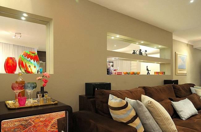 lampadas de led sala de estar com prateleiras maria claudi 37032