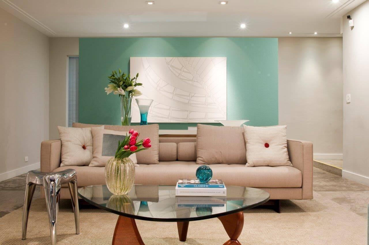 lampadas de led sala de estar parede verde marilia veiga 3701