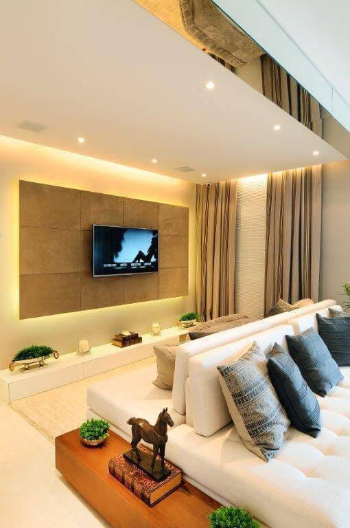 lampadas de led sala de estar sofa duplo quitete e faria 41877