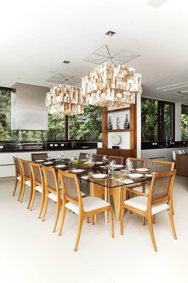 lampadas de led sala de jantar pendentes grandes infinity spaces 85079