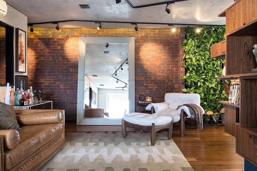 lampadas de led trilho sala de estar com poltrona mole clarice semerene 23906
