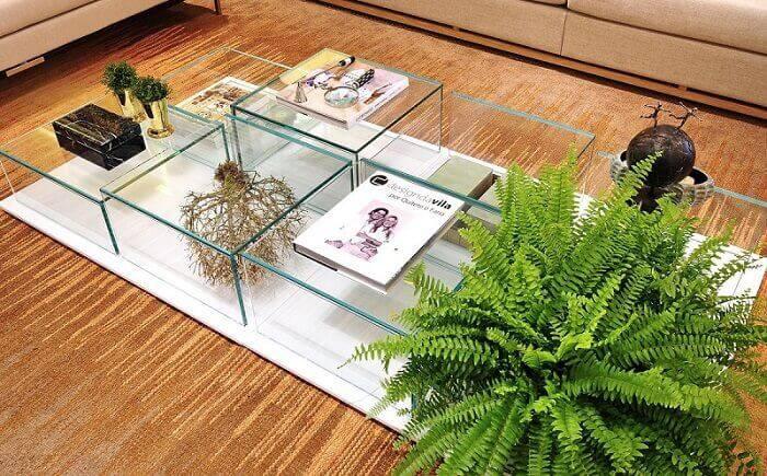 mesa de centro de vidro detalhada quitete e faria 41849