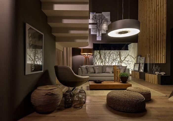 Mesa de centro quadrada de madeira para sala de estar