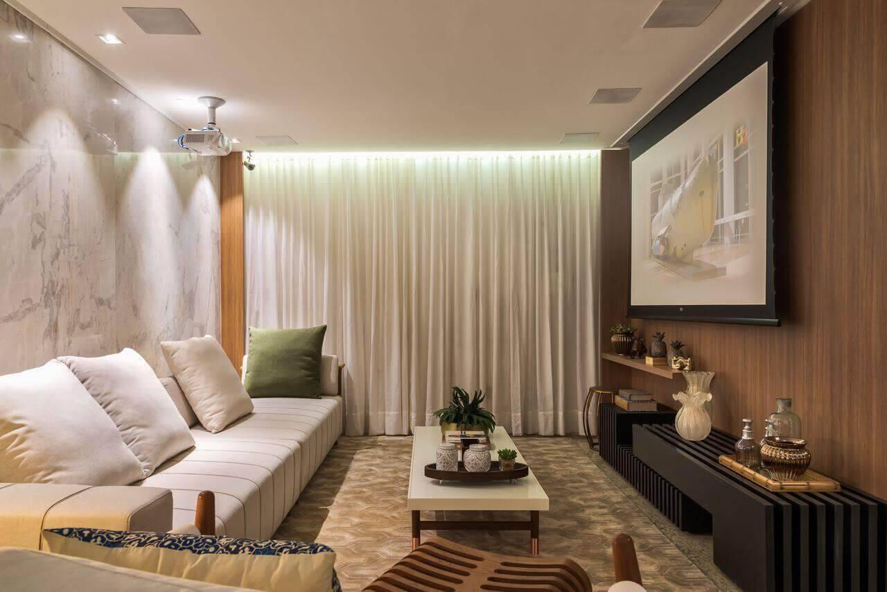 mesa de centro retangular com tapete estampado morar mais por menos goiania 151910