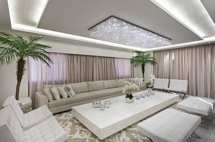mesa de centro sala de estar suntuosa branca iara kilaris 131957