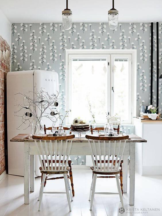 papel de parede para cozinha algodao cinza