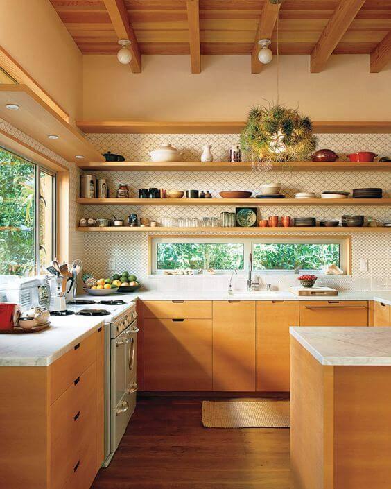 papel de parede para cozinha desenho neutro