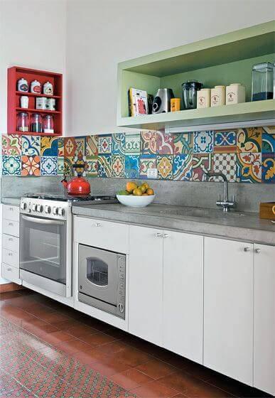 papel de parede para cozinha ladrilho hidraulico