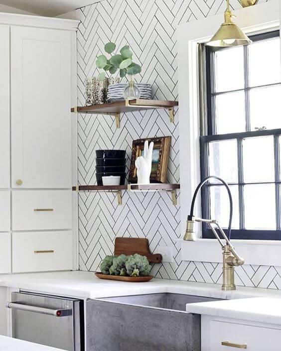 papel de parede para cozinha ladrilhos