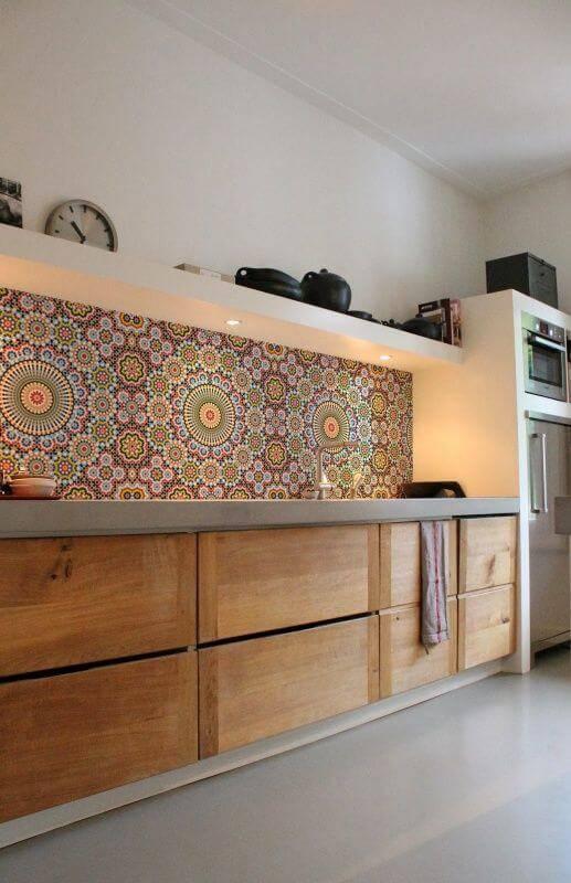 papel de parede para cozinha mandalas rustico