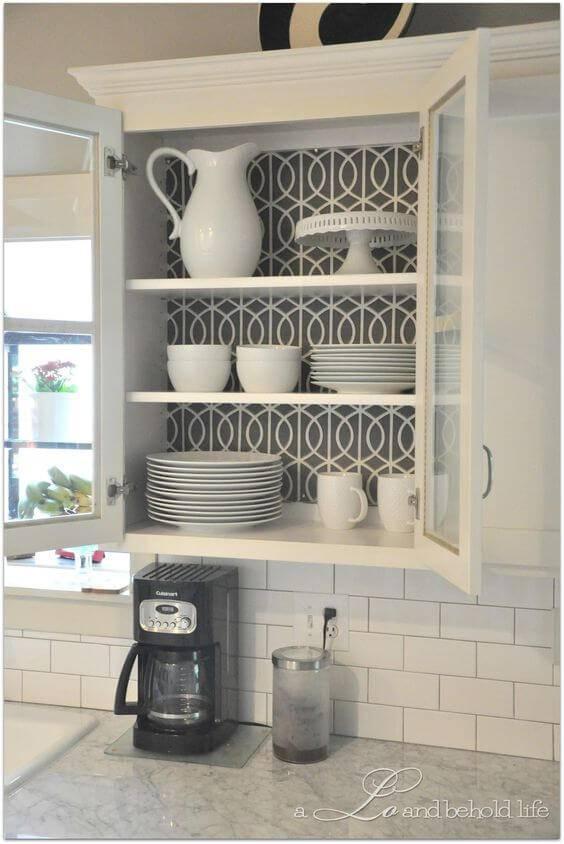 papel de parede para cozinha no armario
