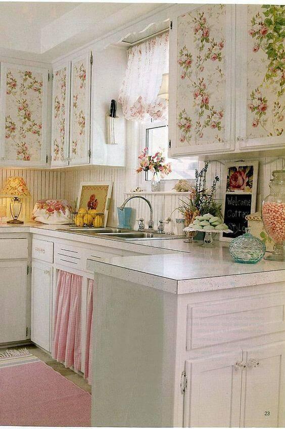 papel de parede para cozinha nos armarios