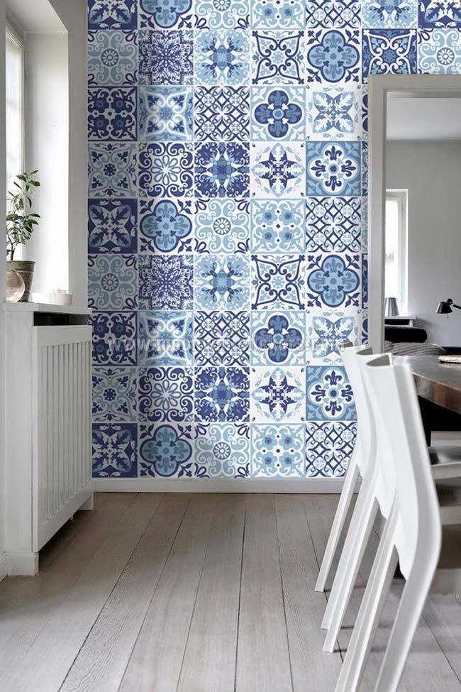 Cozinha com azulejo português