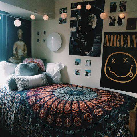 quarto hippie boho-bedroom-decor-hippie