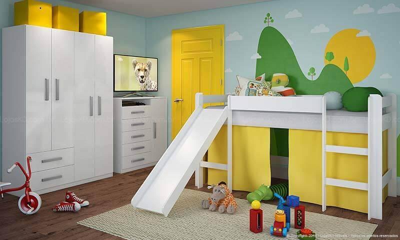 quarto infantil cama suspensa