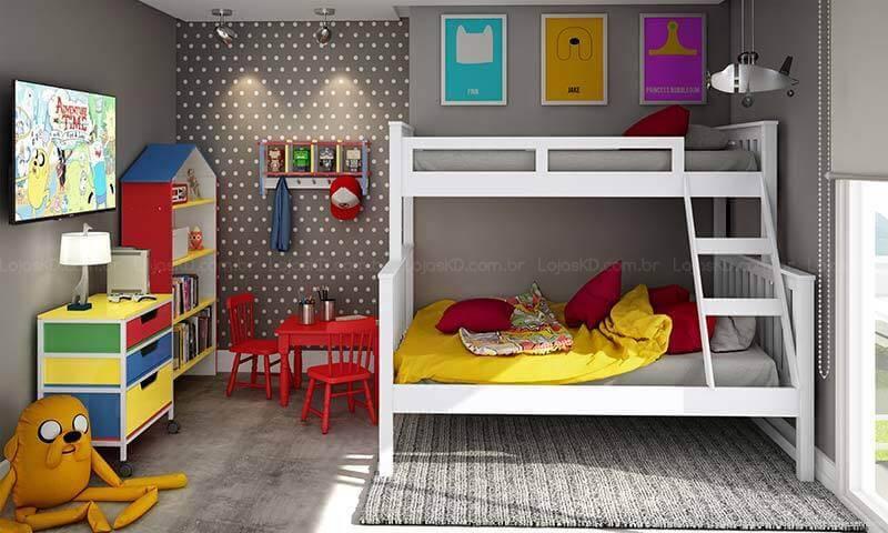 quarto infantil cinza