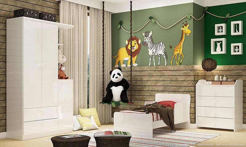 quarto infantil verde