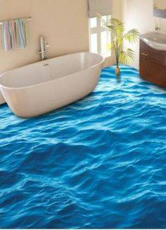 resina epoxi 3d agua com banheira