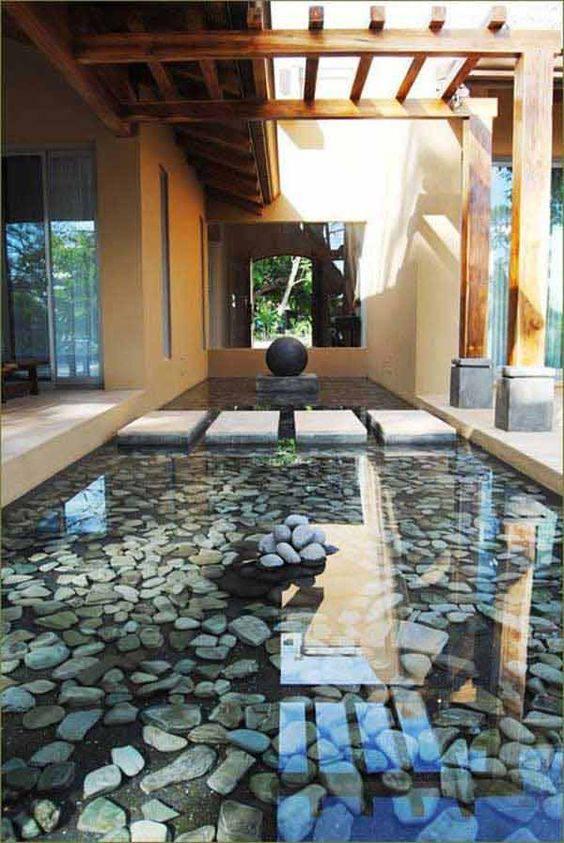 resina epoxi area externa com pedras