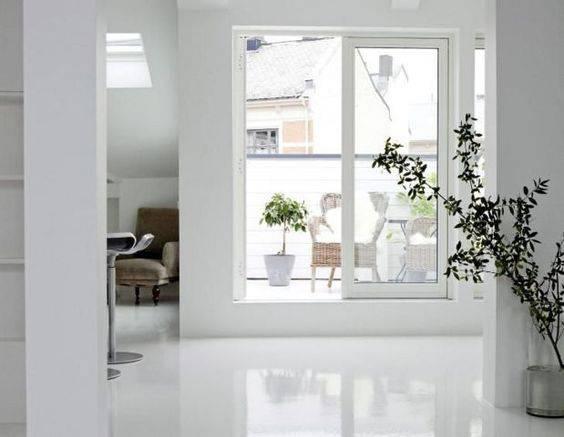 resina epoxi branca hall da varanda