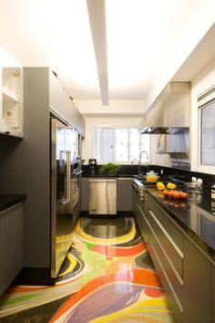 resina epoxi colorida cozinha