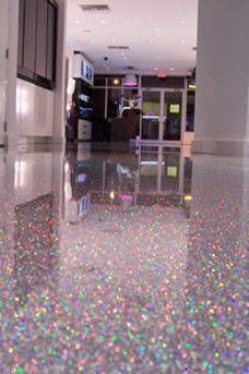 resina epoxi com brilhos holograficos